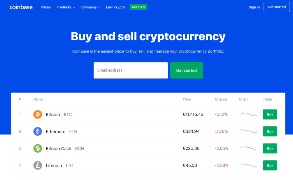 Bitcoin kopen bij Coinbase