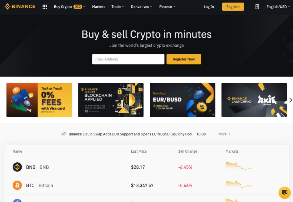 Bitcoin kopen bij Binance